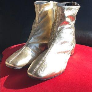 Top shop gold metallic short boots